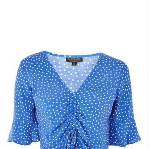 Polka Dot Ruched Front Top