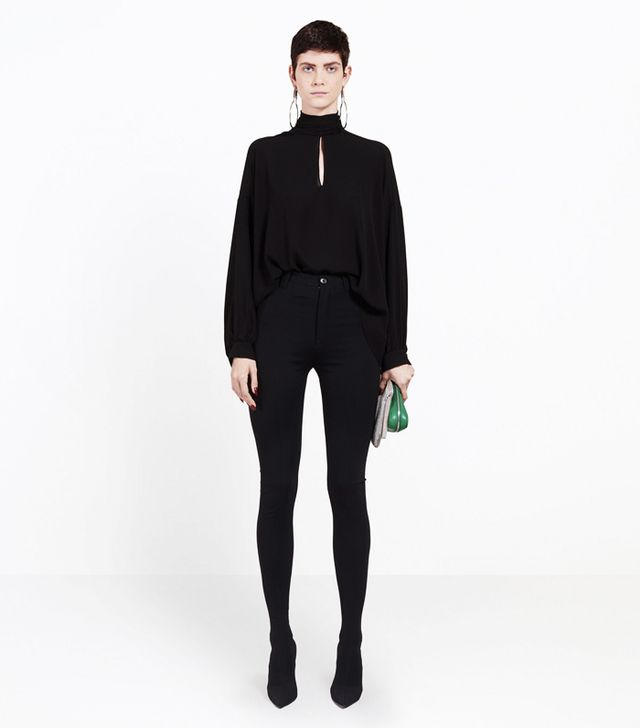 pantashoes trend: Balenciaga Stretch-Knit Over-The-Knee Boots