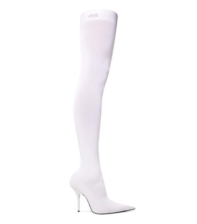 pantashoes trend: Balenciaga Stretch-Jersey Thigh Boots