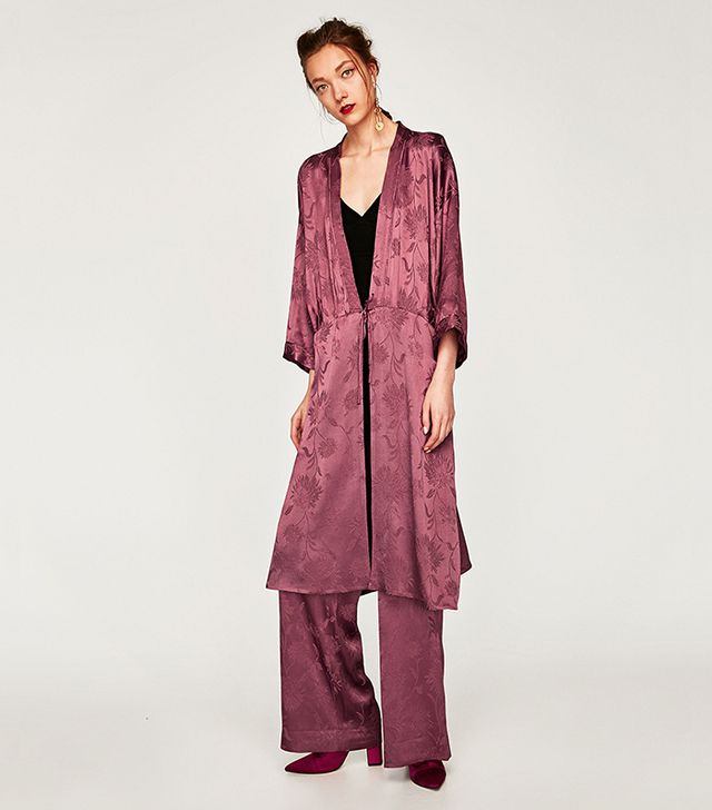 Zara Shimmery Jacquard Kimono