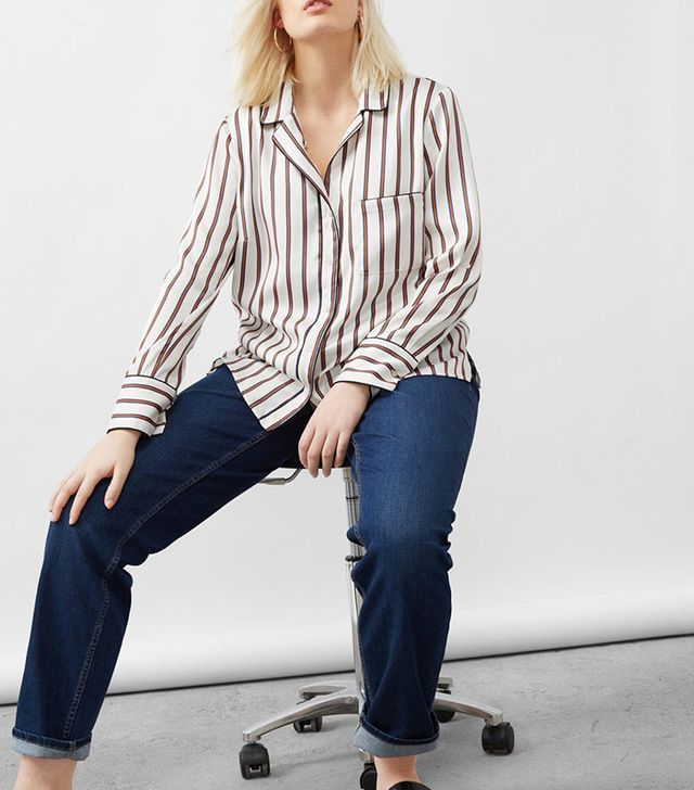 Flowy striped blouse