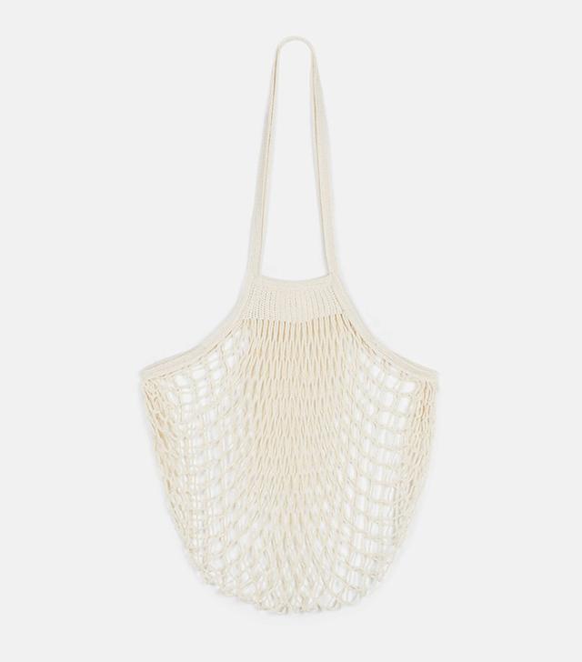 The Line Filt Large Net Bag in Natural
