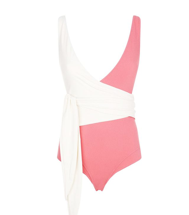Lisa Marie Fernandez Dree Louise Wrap Swimsuit