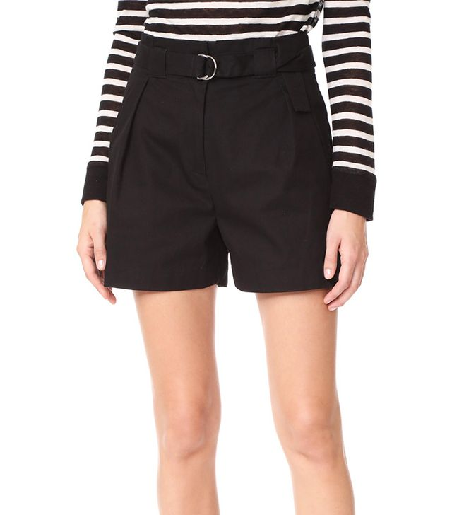 Paperbag Waist Shorts with Belt
