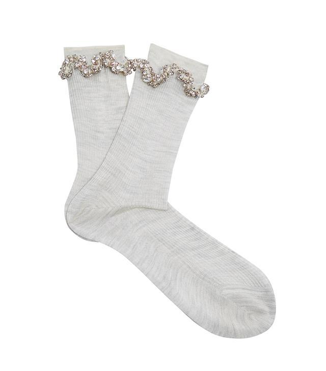 Raey Embellished Ric-Rac Silk Socks