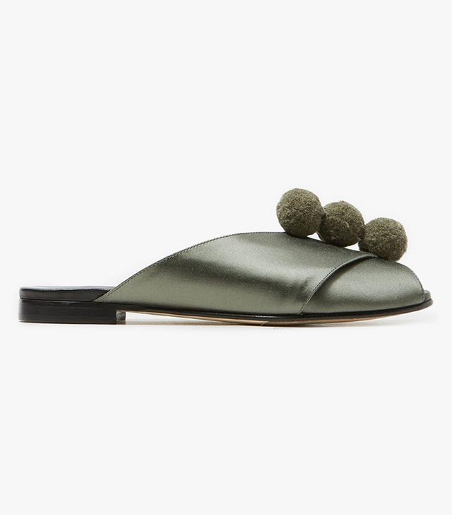 Pompom Sandal in Sage