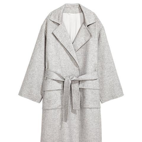 Felted Wool-Blend Coat