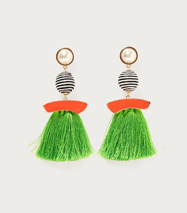 Best tassel earrings: Zara fringe