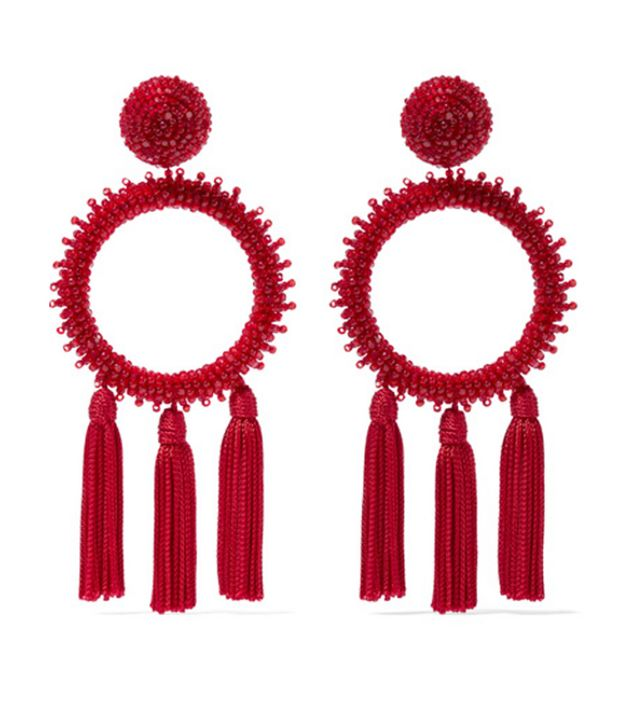 Best tassel earrings: Oscar de la Renta