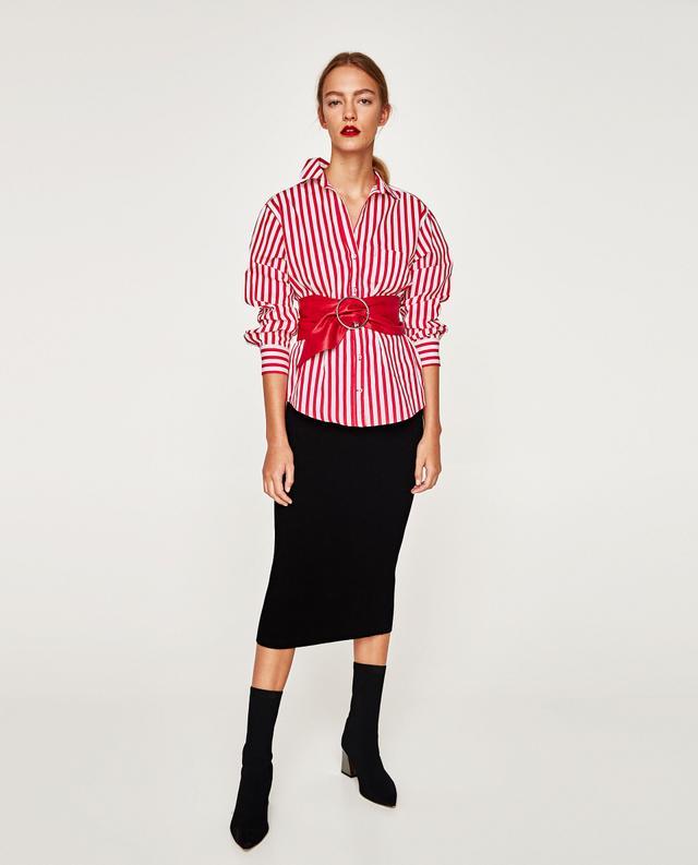 Zara Two-Tone Polin Shirt