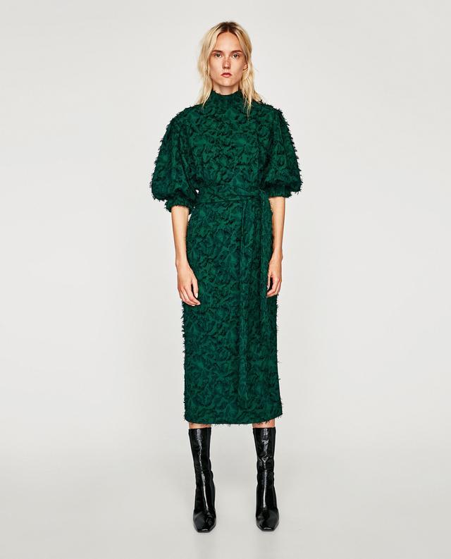 Zara Midi Dress With Fringe