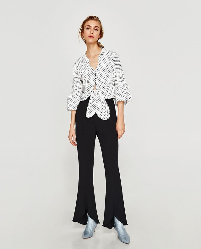 Zara Top With Bow Detail