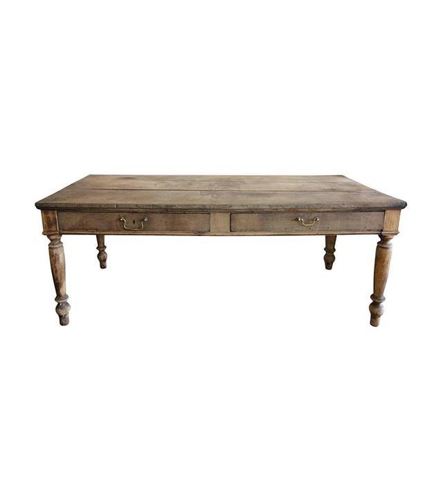 Kassie Keith Italian Oak Two-Drawer Farm Table