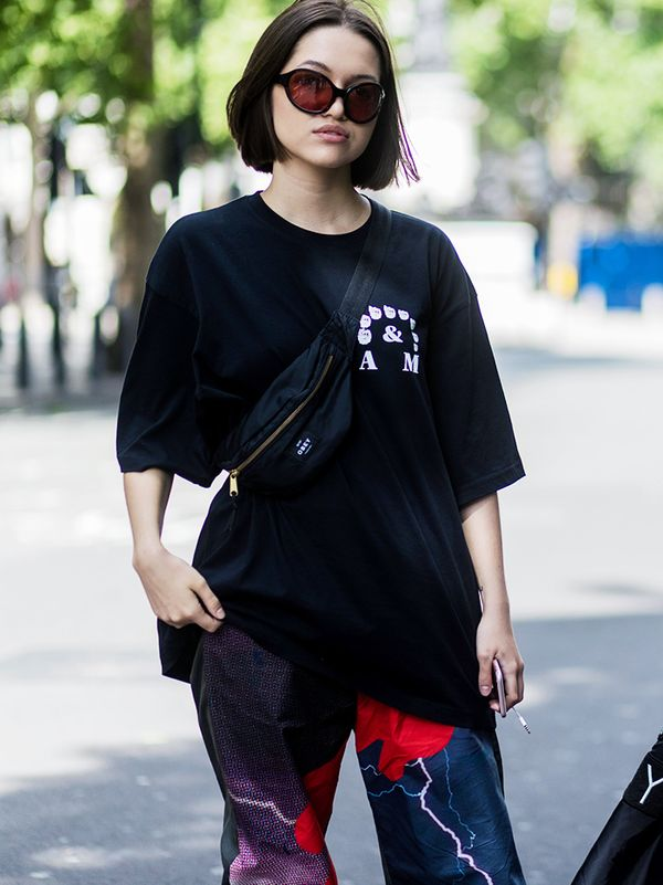 Take the fanny pack to its athleisure roots with an original nylon offering—but update it with an over-the-shoulder styling.