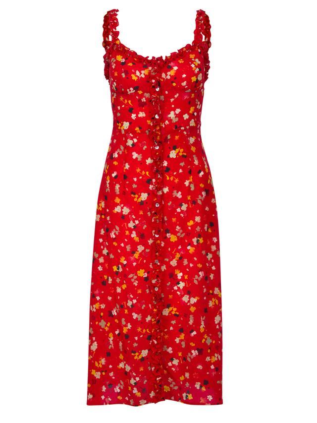 Réalisation Par The Juliet Dress Rouge Fleur