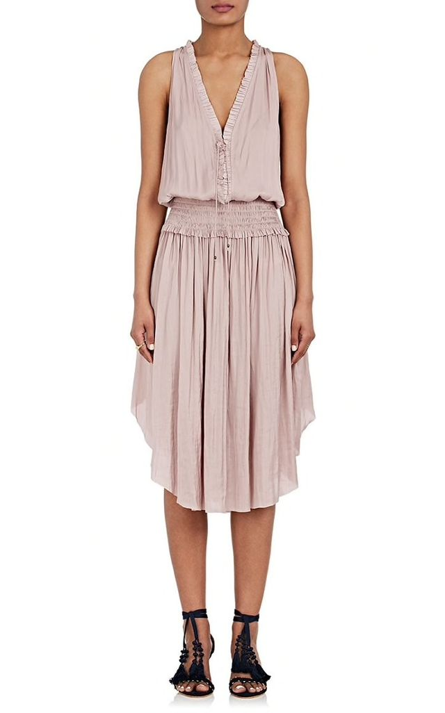 Women's Lucille Washed Satin Midi-Dress
