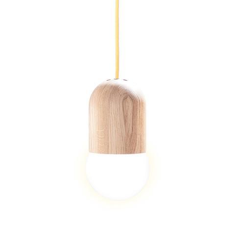 Light Bean Pendant Lamp-Yellow Cable