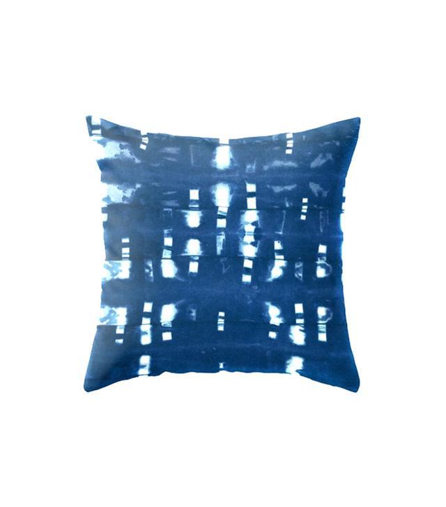 Hawaii Textile Studio Shibori Clothespin Throw Pillow