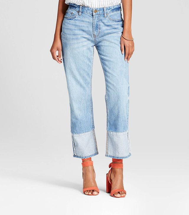Who What Wear Contrast Cuff Jeans
