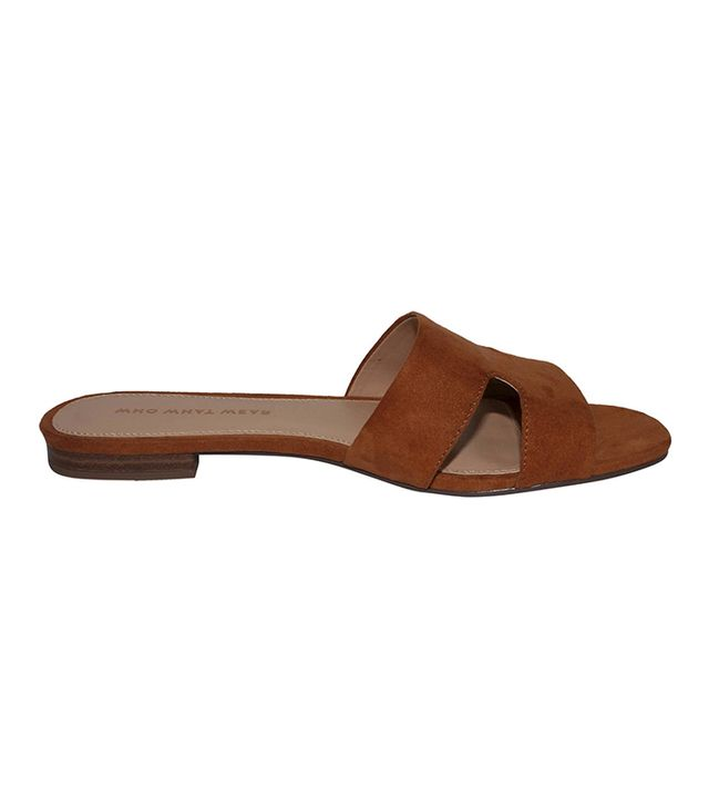 Who What Wear Carlie Faux Suede Slide Sandals