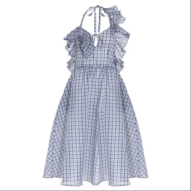 Rosie Assoulin Detour Ruffle Check Dress