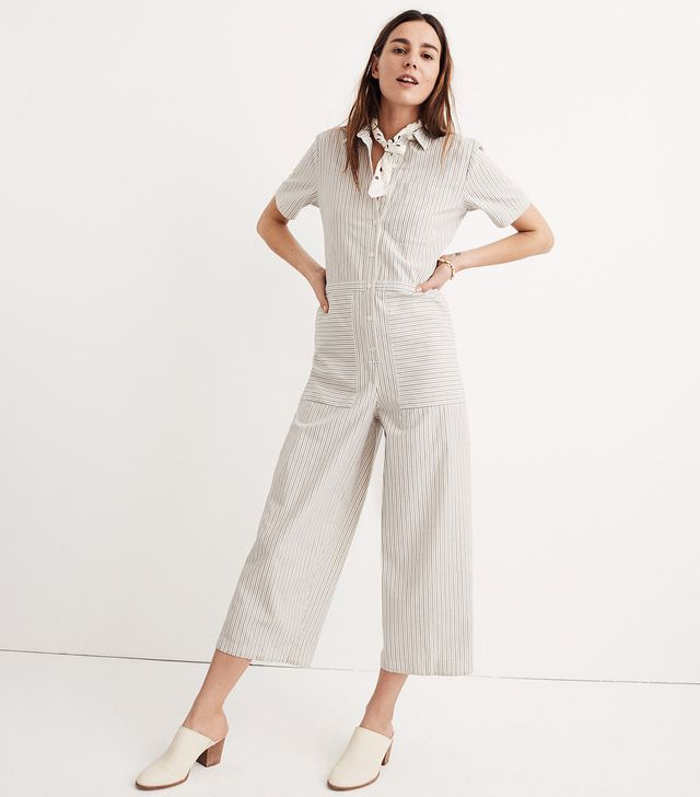 Striped Utility Jumpsuit