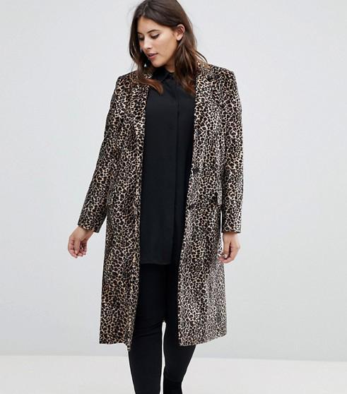 Leopard Print Wool Coat