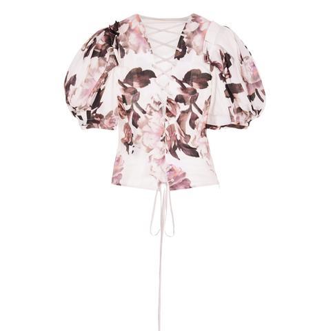 Takako Floral-Print Cotton Top