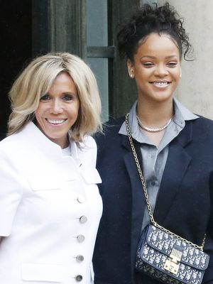 The First Lady of France Wore Chic Skinny Jeans to Meet Rihanna