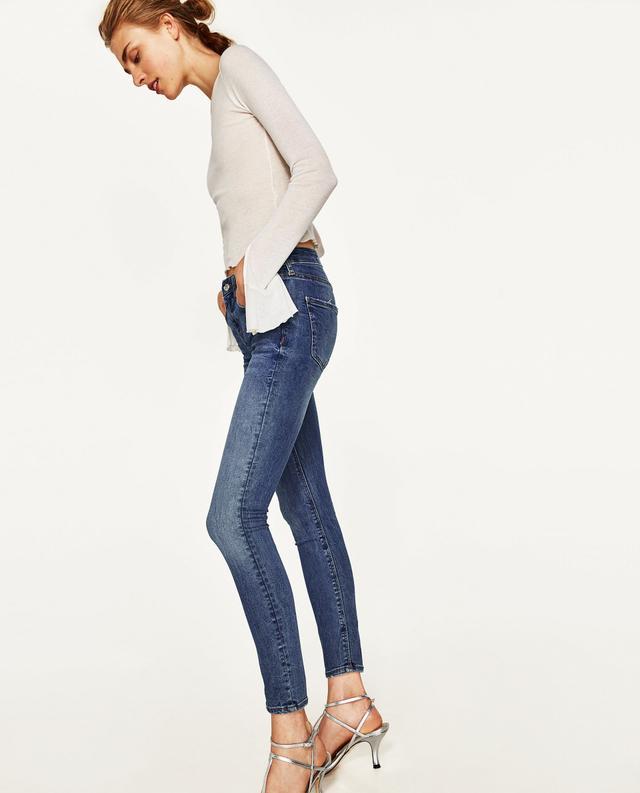 Zara Mid-Rise Skinny Jeans