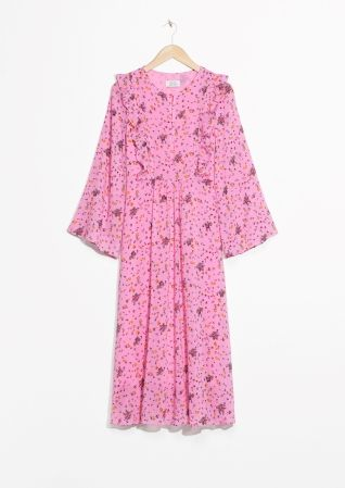 & Other Stories Floral Frills Print Dress