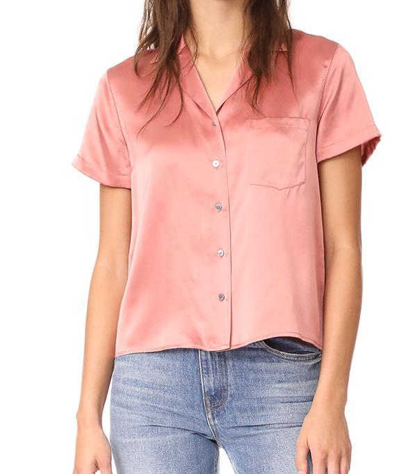 Button Thru Collared Shirt