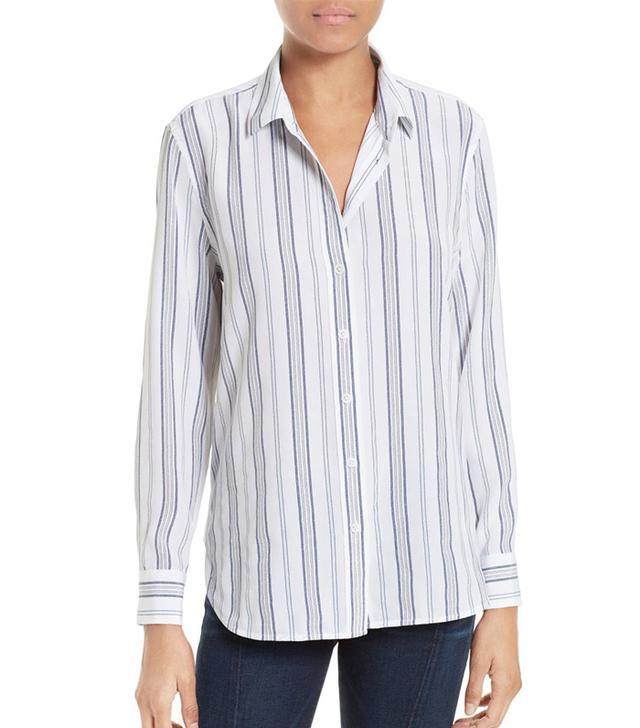 Leema Stripe Silk Shirt
