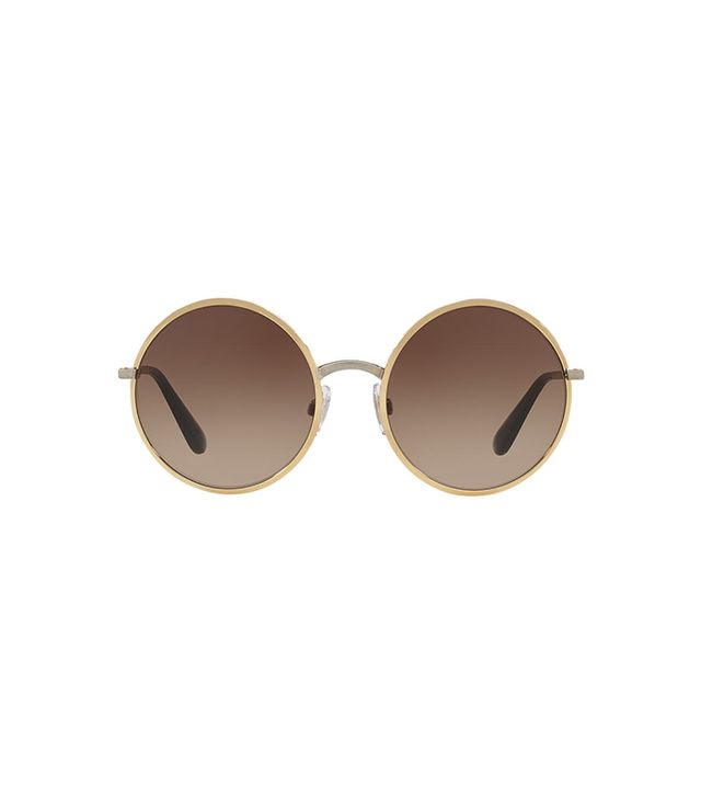 Gold Round Sunglasses - dg2155