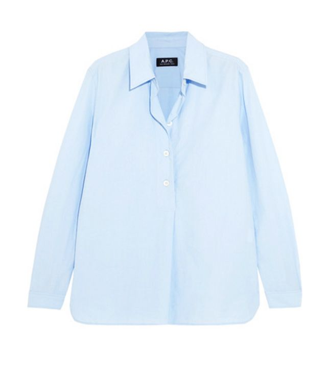 APC blue shirt