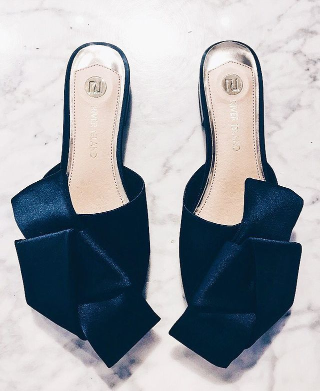How to shop River Island: blue mules
