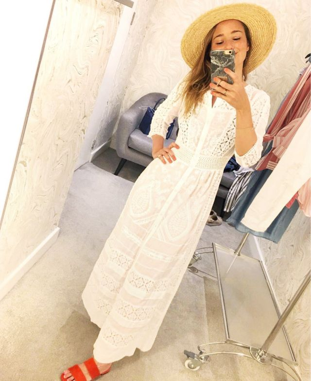 How to shop River Island: white lace dress