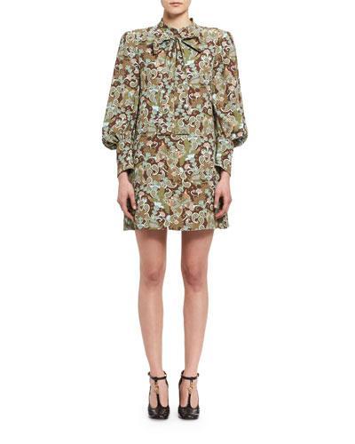 Chloé  Women's Butterfly-Print Minidress