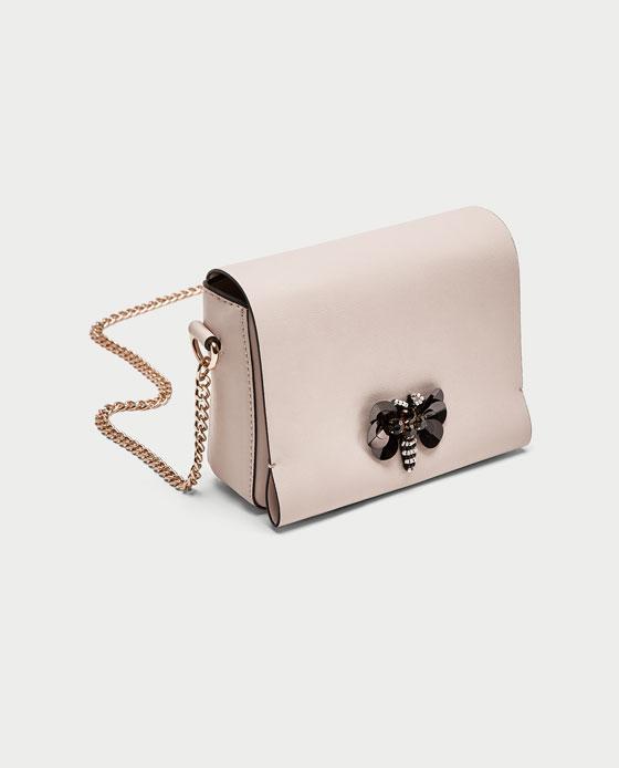 Zara Crossbody Bag With Butterfly Detail