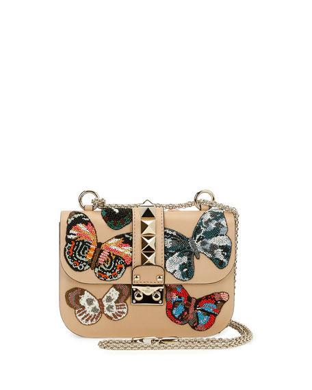 Bergdorf Goodman Lock Small Butterfly Shoulder Bag