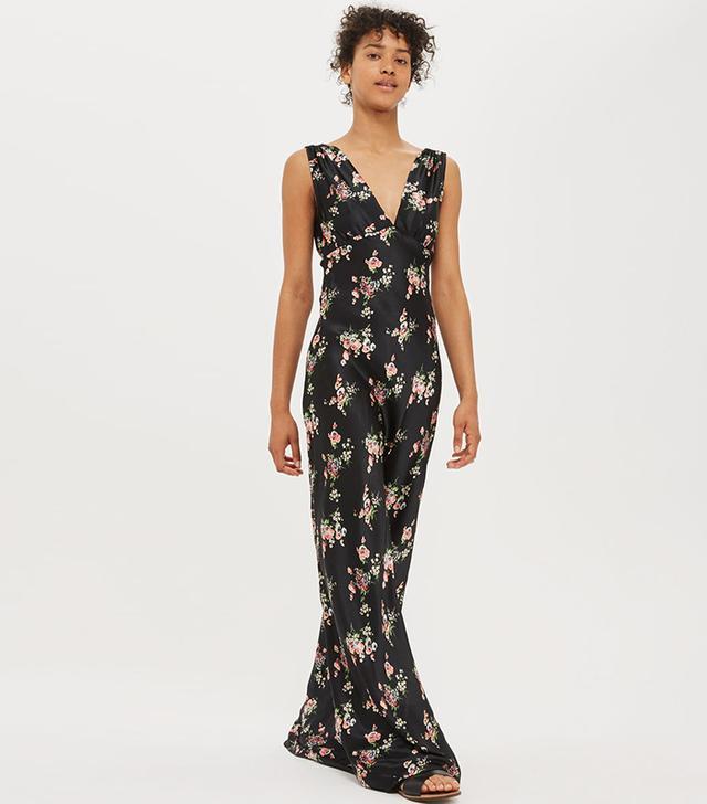 Topshop Floral Print Maxi Dress