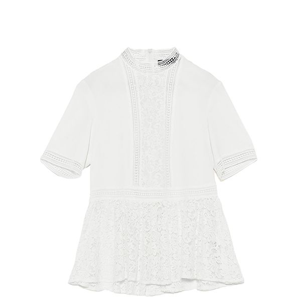 Zara Contrast Lace Top