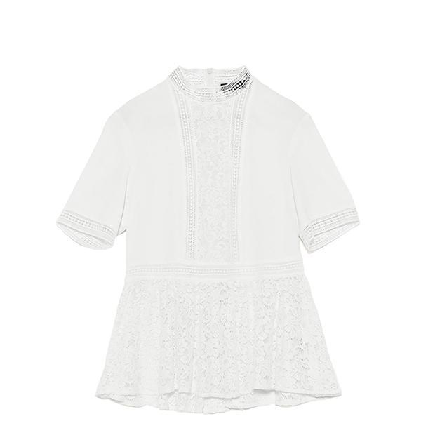 Zara Contrast Lace Top