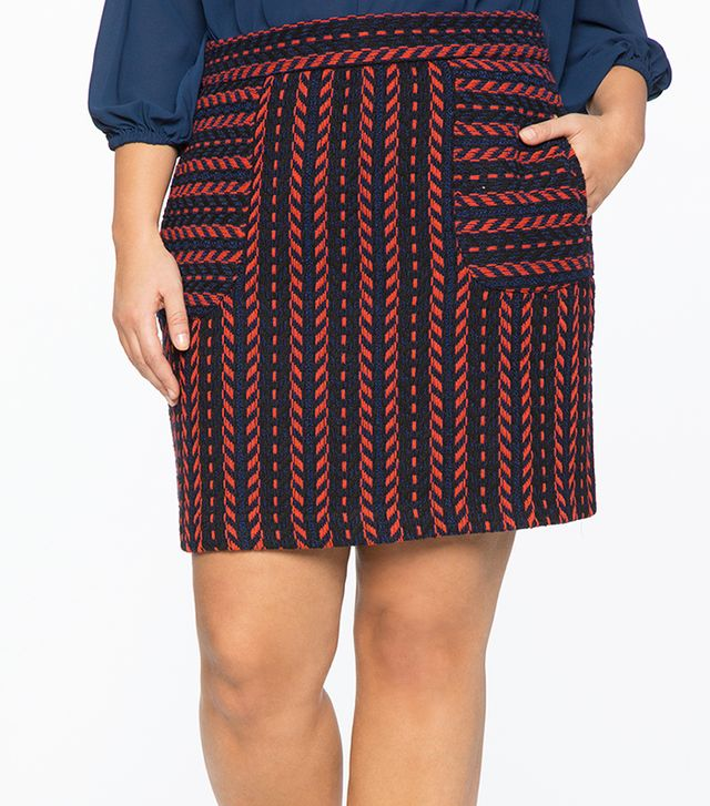 Eloquii Textured Patch Pocket Mini Skirt