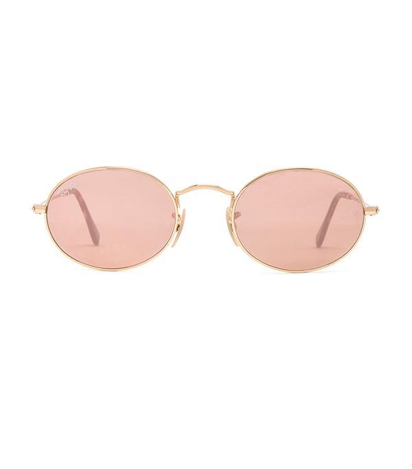 Oval Flat Sunglasses