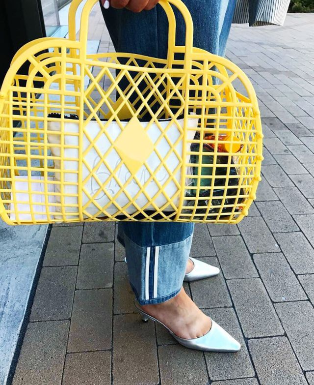Jelly bags: yellow basket bag
