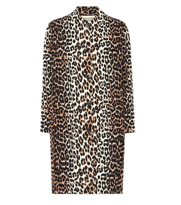 Ganni Fabre Leopard-Printed Cotton Coat (£235)