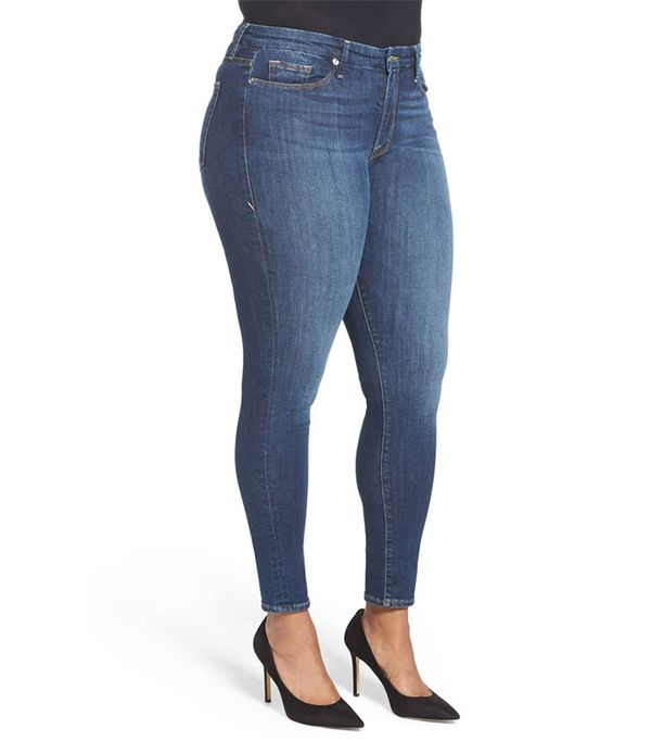 Plus Size Women's Good American Good Legs High Rise Skinny Jeans
