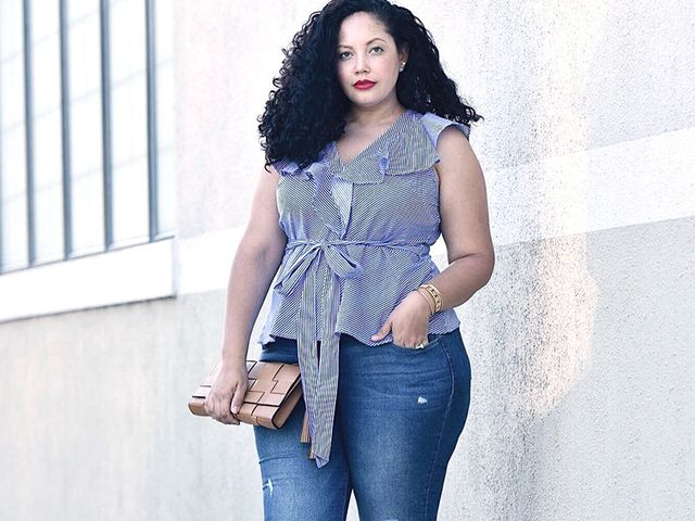 Plus size fashion denim