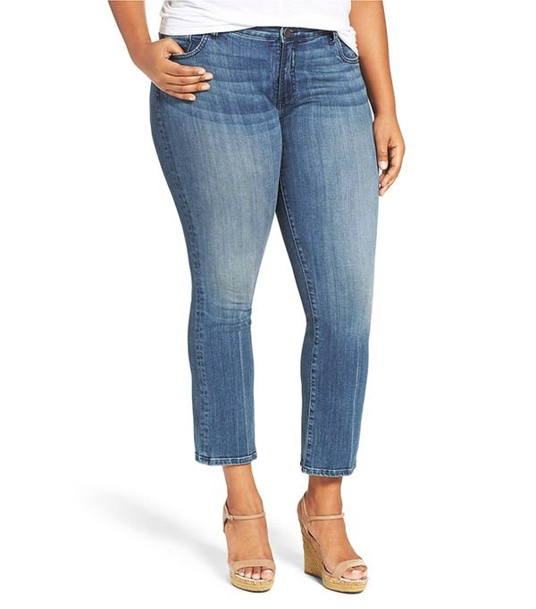Plus Size Women's Kut From The Kloth 'Reese' Crop Flare Leg Jeans